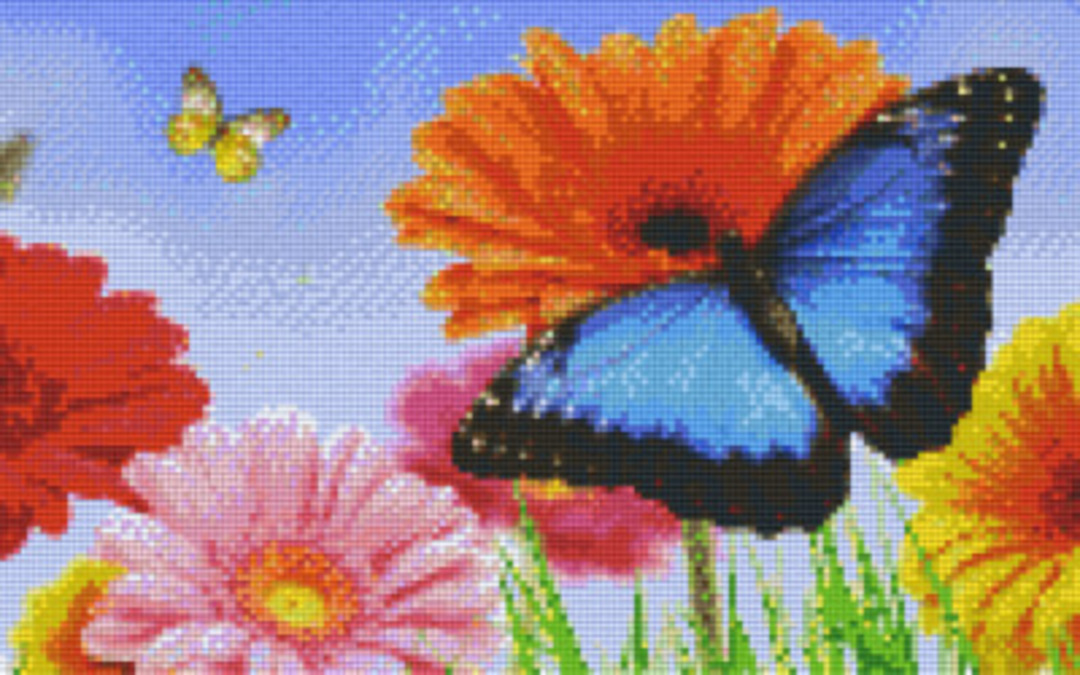 Butterfly 1 Eight [8] Baseplate PixelHobby Mini-mosaic Art Kits image 0